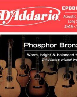 Комплект струн для акустической бас-гитары D`ADDARIO EPBB170 Phosphor Bronze