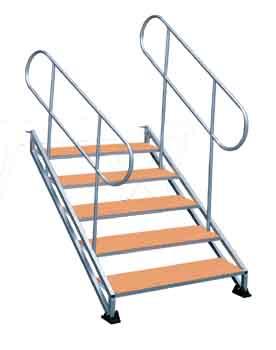 DNA002 приставная лестница для подиума