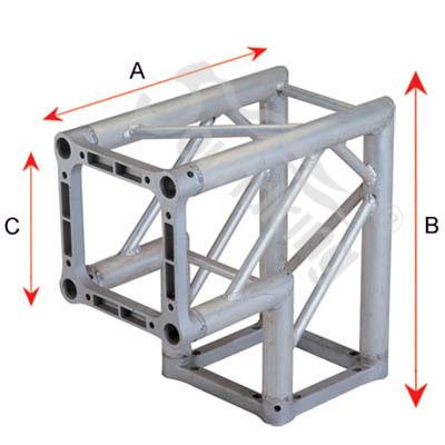 DKC2204B алюминиевый угловой сегмент, 90°